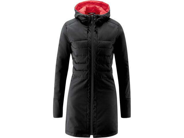 Maier Sports Skyllar Softshell Jacket Women, zwart/rood